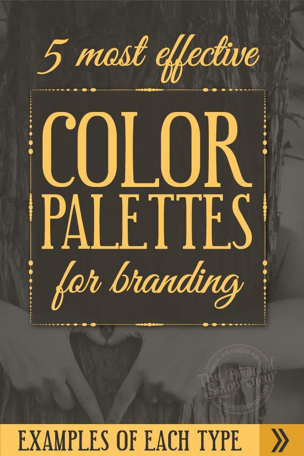 The 5 Most Effective Types of Color Palettes For Branding {including examples…