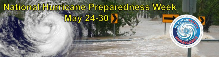This week is National Hurricane Preparedness Week. Plan now for an emergency to mitigate against property damage--and to keep your family and pets safe. Learn more at http://www.nws.noaa.gov/com/weatherreadynation/hurricane_preparedness.html#.VV8oulxgvdl