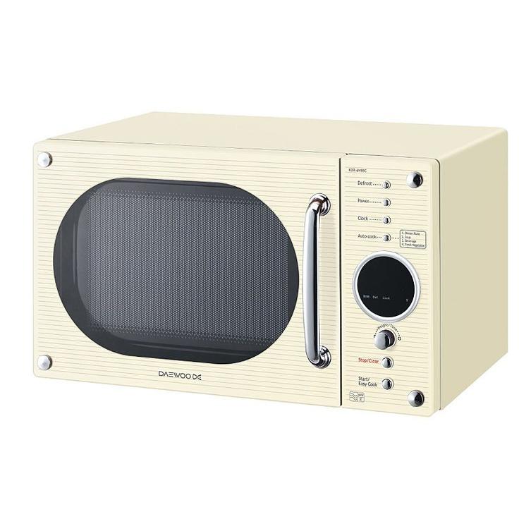 Daewoo Kor6n9rc 20l 800w Microwave Cream Microwaves Asda Direct