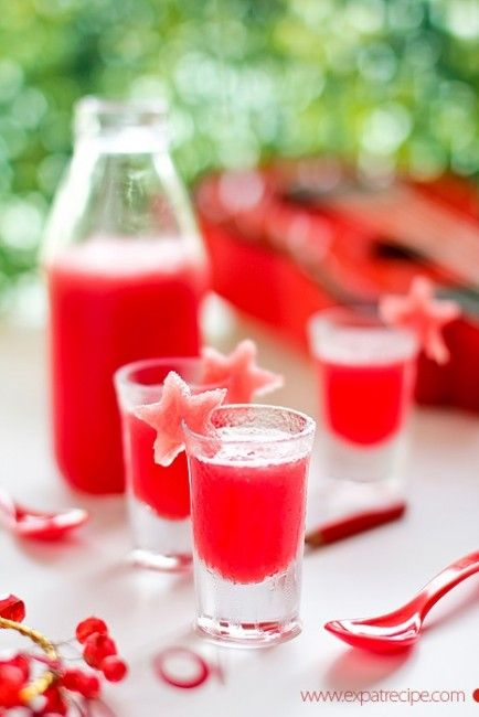 Dress up drinks with fruit cut-outs!