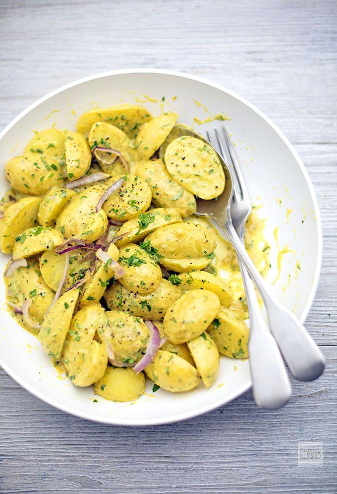 Insalata di patate novelle alla senape e dragoncello