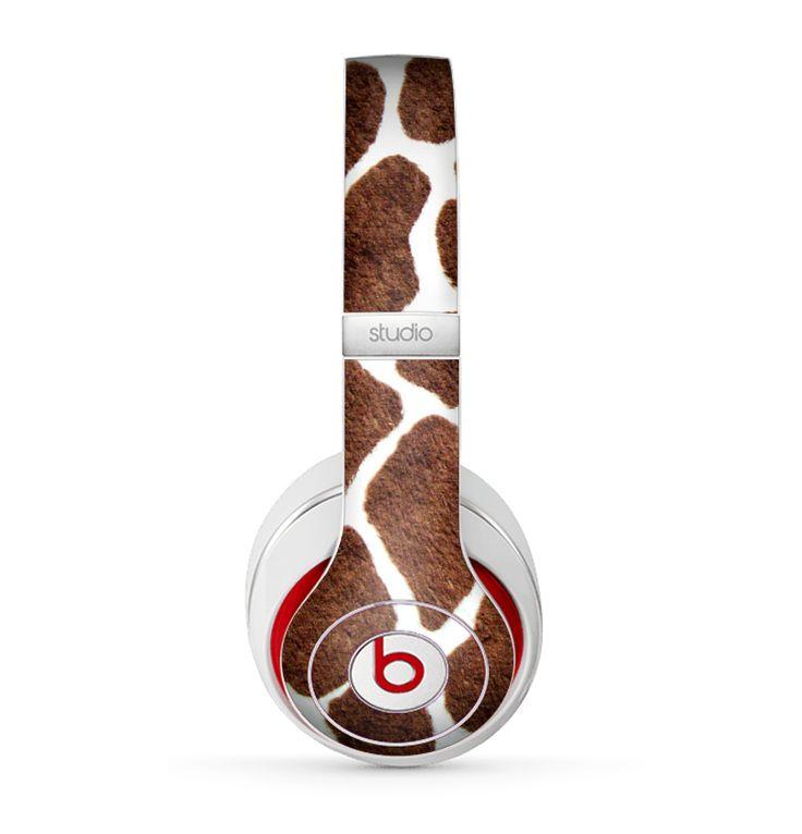 The Real Giraffe Animal Print Skin for the Beats by Dre Studio (2013+ Version) Headphones