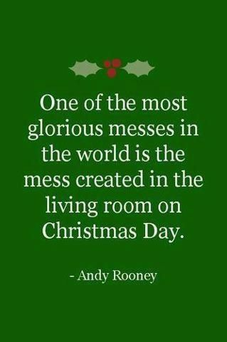 One of the most glorious messes in the world is the mess created in the living room on Christmas Day: