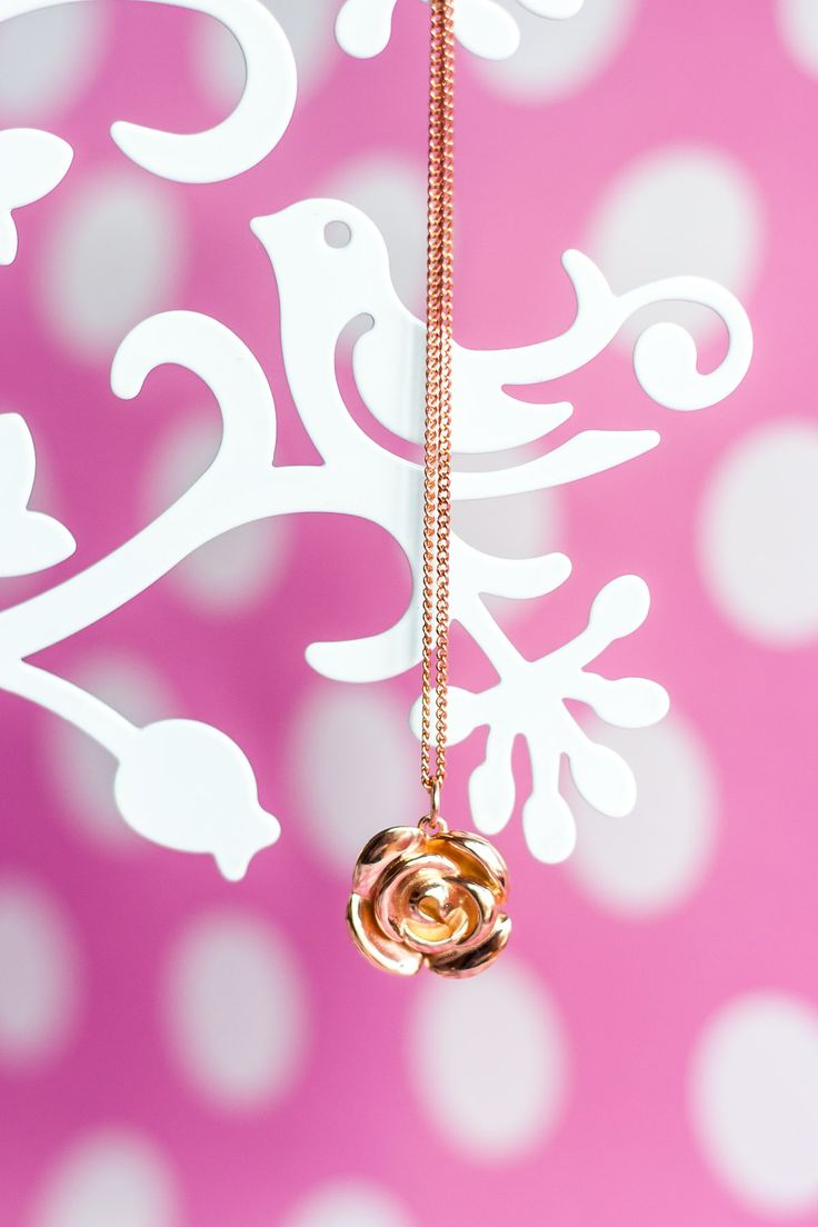 Perhaps a rose rose for a rose? This rose gold-plate pendant is so romantic