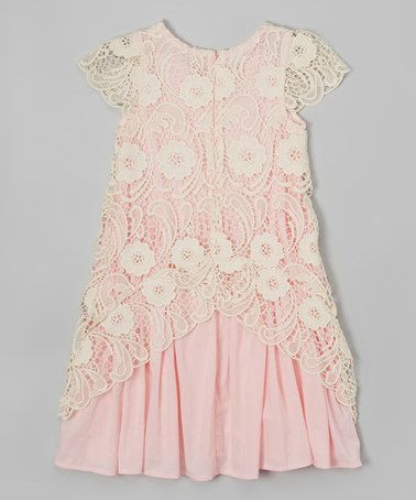 Love this Pink Crochet Dress - Toddler & Girls by Frills du Jour on #zulily! #zulilyfinds