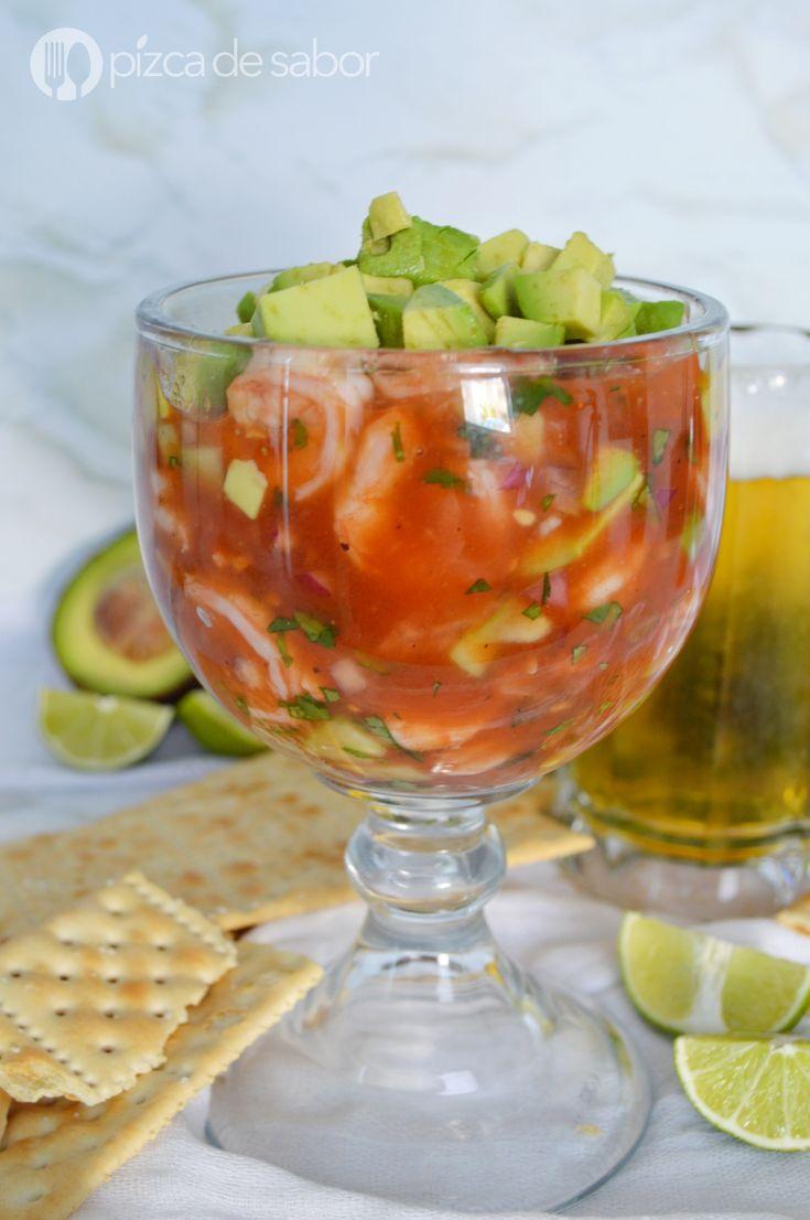 Coctel de camarón www.pizcadesabor.com