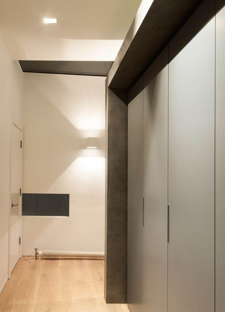 Lighting design by mr resistor plaster wall light and trimles downlight in corridor