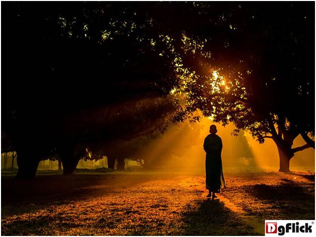 Jubair Bin Iqbal took this photo of a Hindu monk walking through a mango garden of Dinajpur one foggy winter morning. Amazing isn't it? #bestphotography