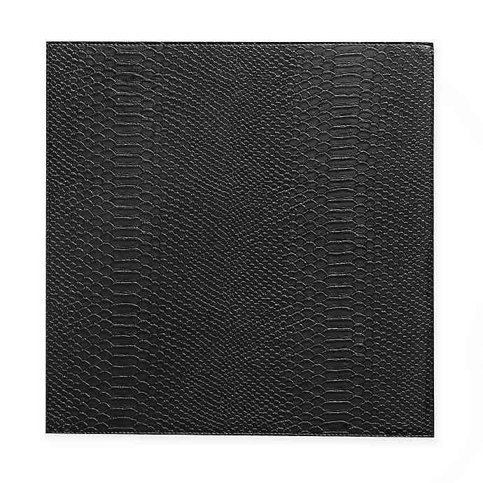 Kenneth Cole Kent Faux Snakeskin Placemat In Black In 2020 Faux
