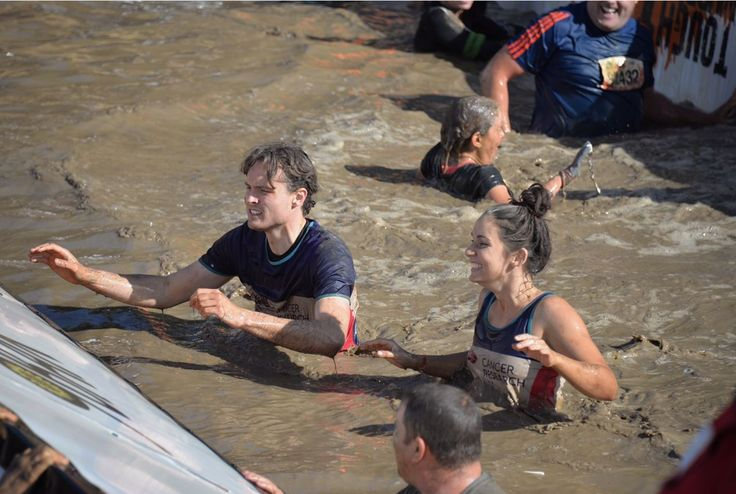 Carley and Thomas representing Hamptons International at Tough Mudder for Cancer Research UK this year