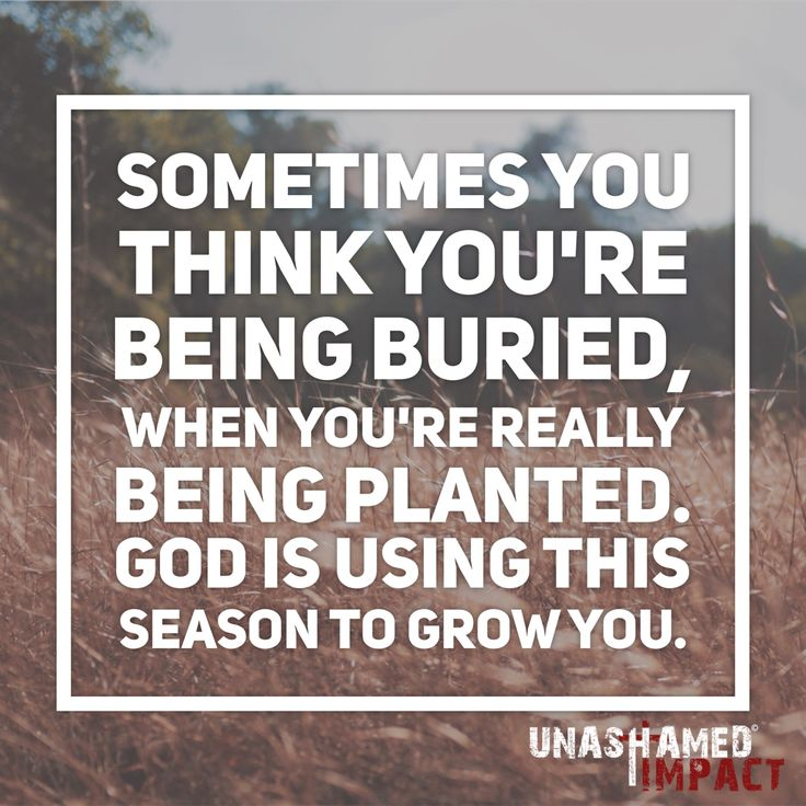 Let this season grow you. God is doing a work within you right where you are.