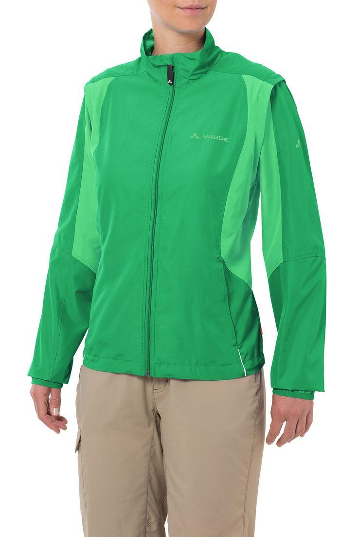 VAUDE Jacke Women's Dundee Classic ZO Jacket - Chubasquero de ciclismo para mujer, color verde, talla 48