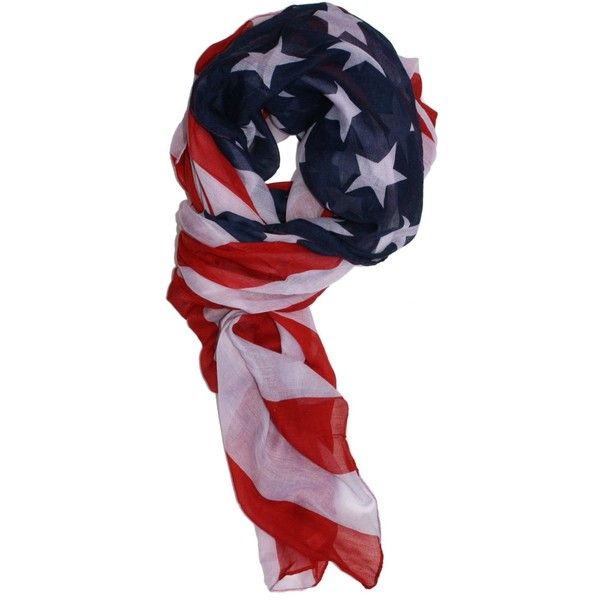 LibbySue-Red, White and Blue, Patriotic American Flag Scarf ($3.02) ❤ liked on Polyvore featuring accessories, scarves, american flag shawl, red white and blue scarves, american flag scarves, red scarves and red shawl
