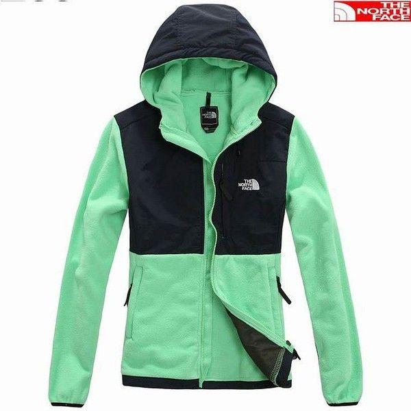 The North Face Womens Denali Hoodie Jacket Green [Green North... via Polyvore