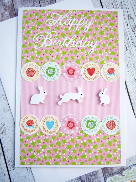 Happy birthday card for a little girl Birthday by littledebskis ~ SOLD!!!