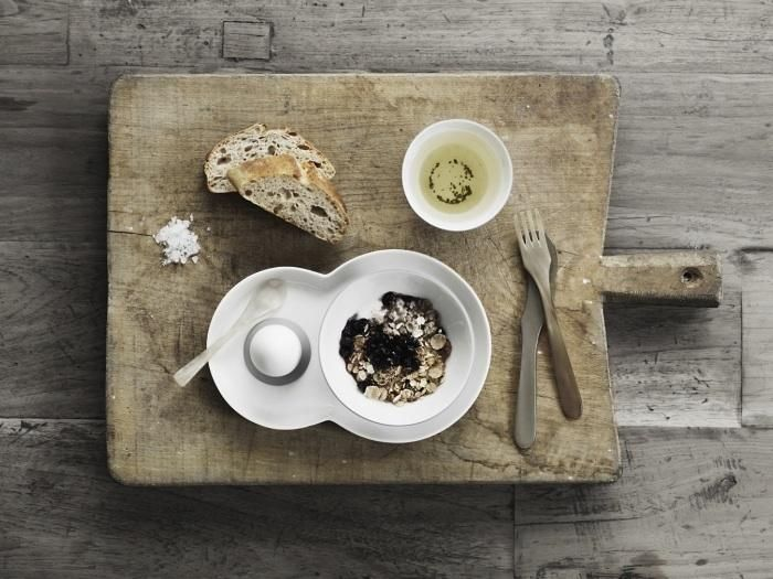 gorgeous Vipp tableware : shown here, Vipp Brunch Plate Set (via remodelista) I also love their kitchen set...click through to link. :)