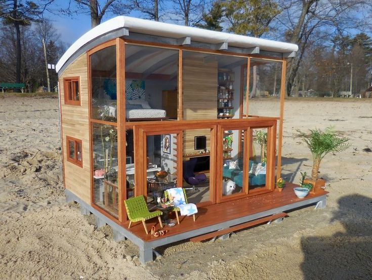 Would make a really nice, real beach house. She should submit it to an architect…