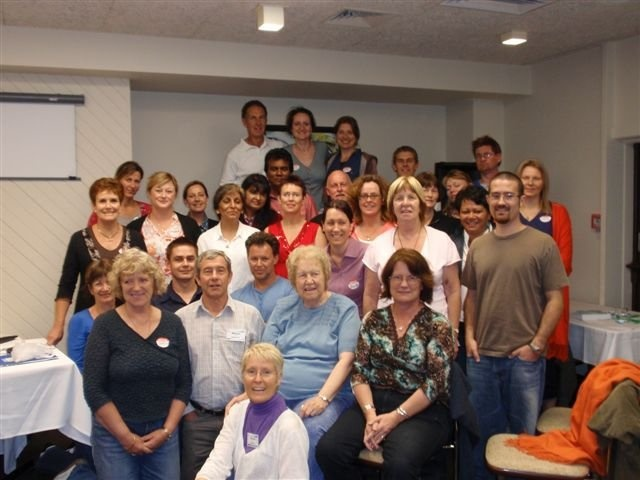 Dolores Cannon with her New Zealand Hypnosis Class 2008