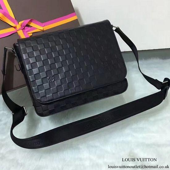 Louis Vuitton N41286 District PM Messenger Bag Damier Infini Leather ... ebdb1348e3a21