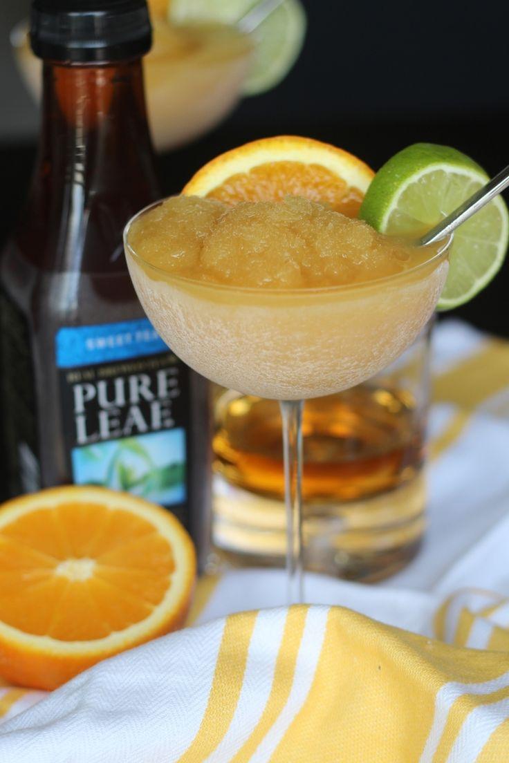 Recipe: Iced Tea Bourbon Slush — Freckled Italian