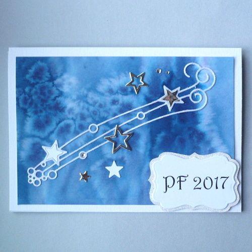 card - stars, Christmas, PF