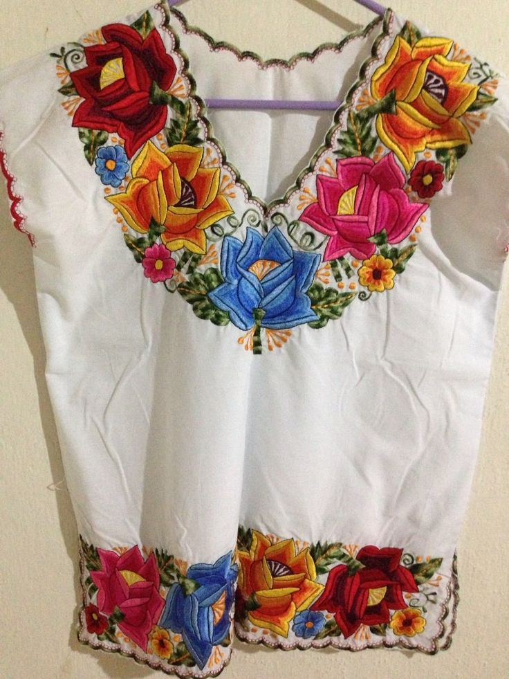 Blusas bordadas mexicanas - Imagui