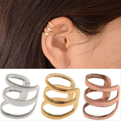 2016 Clip Earrings Punk Gold Sliver Bronze Plated Chain Charms Clip Earrings Metallic Ear Wrap U Shape None Piercing Ear Cuff Earrings Jewelry From Worldfashionoutlet, $0.51 | Dhgate.Com