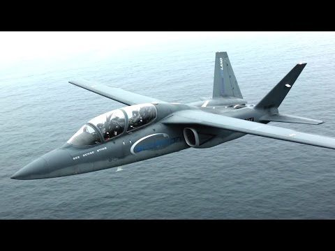 Textron AirLand - Scorpion Light Strike/ISR Fighter At RIAT 2015 [1080p] - YouTube