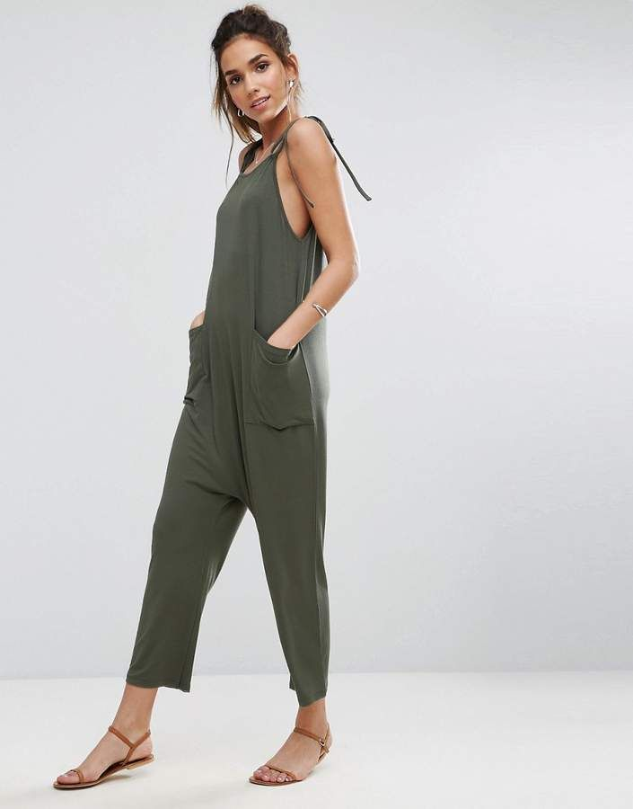 d975e1683392 Asos Jersey Minimal Jumpsuit with Ties Example of True minimal fashion