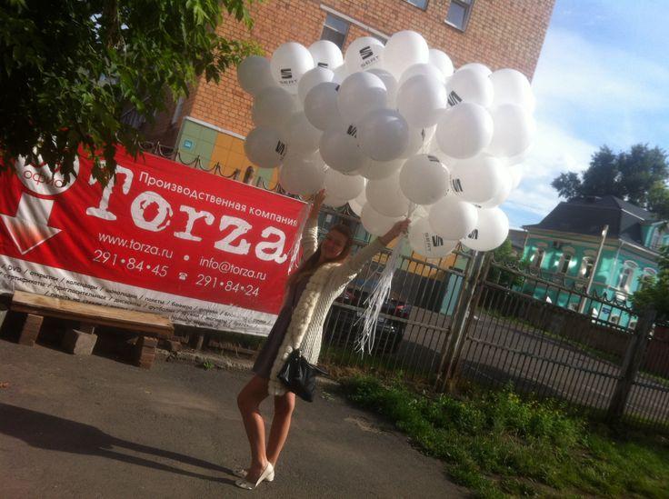 Доставка воздушных шариков с логотипом