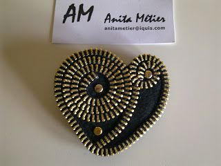 paso a paso broche cremallera how to zipper brooch tutorial step by step como se hace comment faire un zip snap étape par étape fashion accessories moda