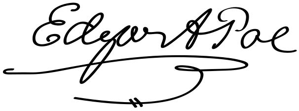 {Pages} Edgar Allan Poe Signature #Poe #signatures # handwriting ✒