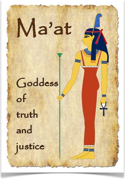 """"""" معت """" ألهة الحقيقة والعدالة"""