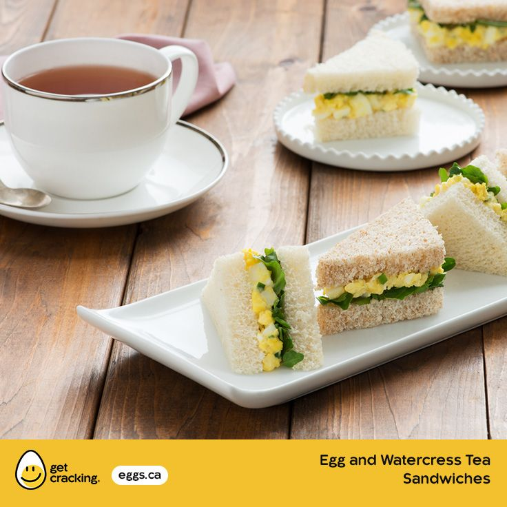 Egg and Watercress Tea Sandwiches | #GetCracking #Eggs #Picnic