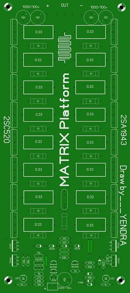 PCB Power Amplifier Matrix Full