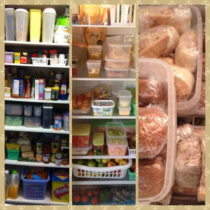 Pantry , Fridge and Freezer organisation