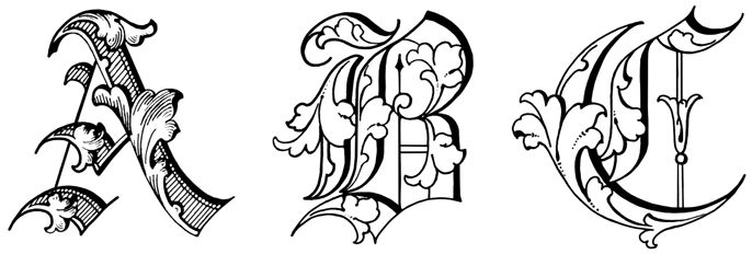 Printable Old English Alphabet