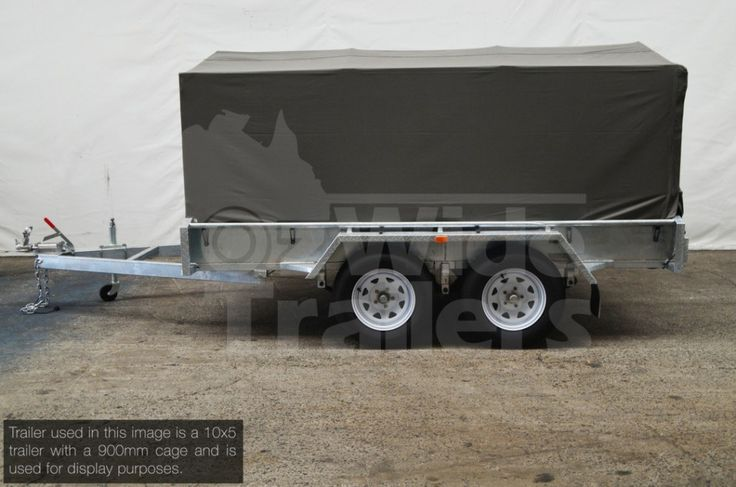 Heavy Duty Canvas Cover 8x5 600mm with ridge poles. These canvas covers will suit a range of trailers. Contact the Oziwde team today!