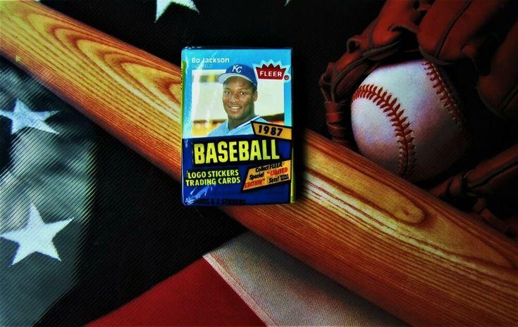1987 fleer bo jackson baseball unopened cello pack bo