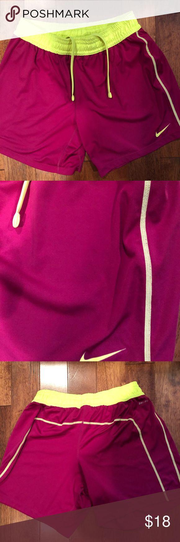 Nike dri fit shorts Bright colored nine dri fit shorts with Nike logo in corner Nike Shorts