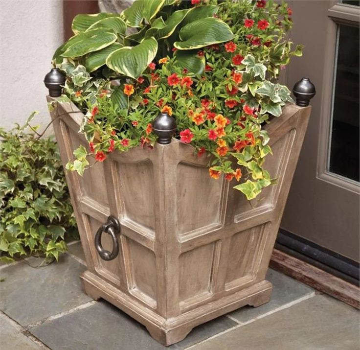 "21.5"" Sand Chelsea Fibreclay Box Planter Napa Home and"
