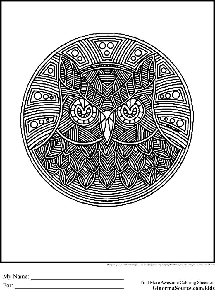 advanced coloring pages owl  Coloring  Pinterest