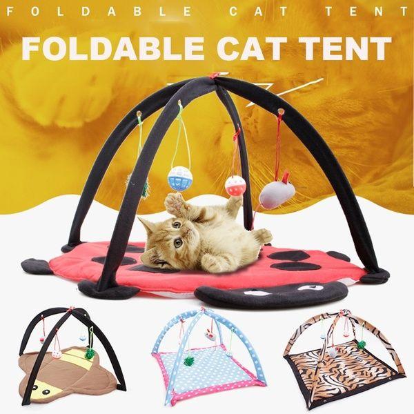 Pet Hammock Warm Catsleepingpad Breathable Environmental Friendly Cartoon Funny Bell Toy Cat Tent Wish Cat Tent Bed Cat Tent Pet Hammock