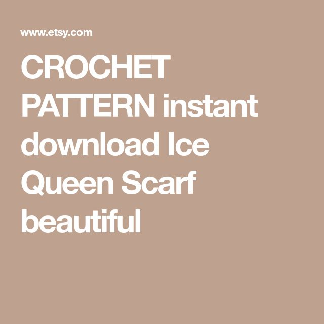 CROCHET PATTERN instant download Ice Queen Scarf beautiful