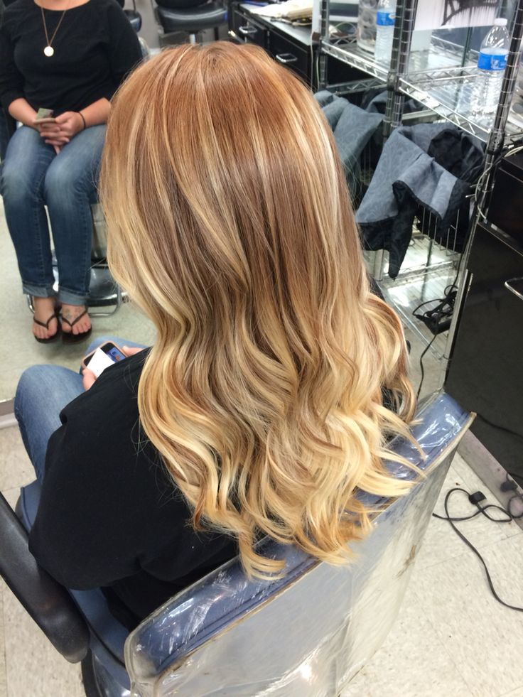 Balayage Ombre Strawberry Blonde Base Hair Styles