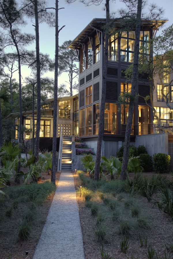Kiawah Island Residence by Thomas & Denzinger Architects, Charleston, SC.  modern vernacular tower