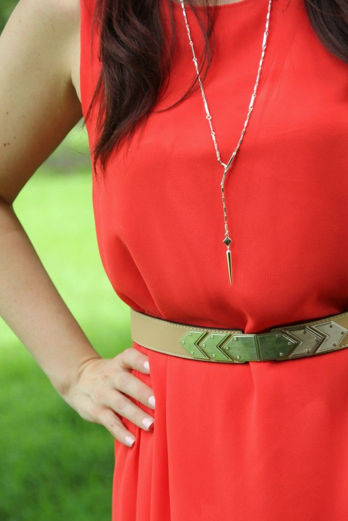 BCBG Belt with Everly Dress | Lady in Violet