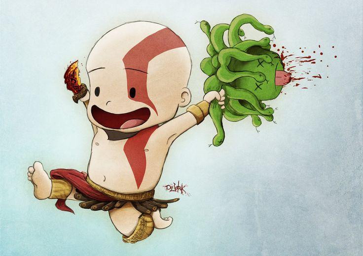 Happy Kratos by DeJotaK