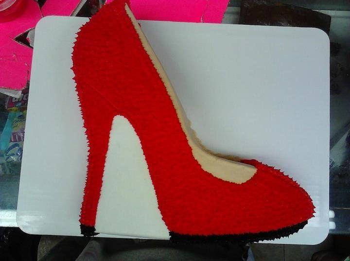 Red High Heel Cake