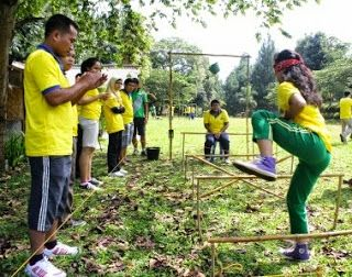 """Outbound   Gathering   Team Building   Rafting   Offroad: GAME OUTBOUND KOMUNIKASI """"MOUSE TRAP"""""""